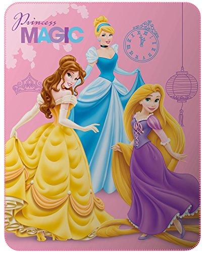 Disney - Disney Princesse - Plaid Polyester, Rose, 110x140 cm