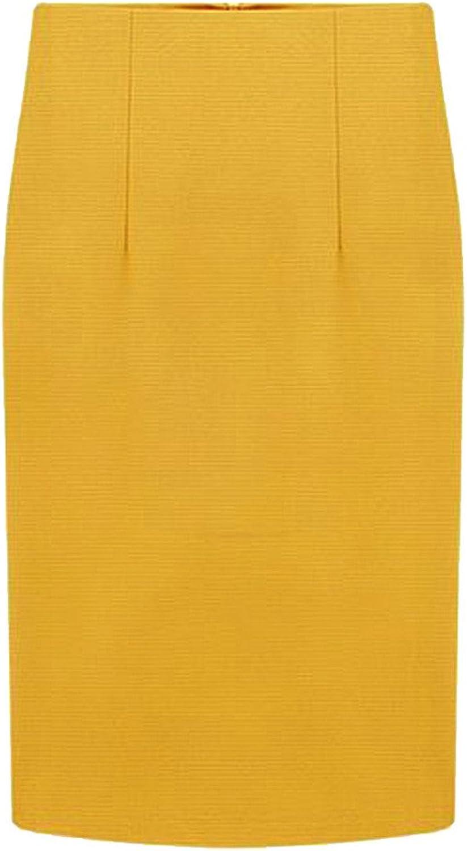 CHARLES RICHARDS CR Women's High Waist Pencil Midi Skirt