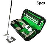 Integrity Kit De Juego De Golf Portátil con Juego De Golf De Aleación De Aluminio, Juego De Golf Portátil, con Pelotas De Golf, Portería, Bolsa De Transporte De PU Set