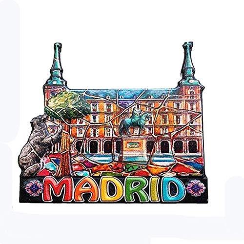 Madrid Spanien 3D-Kühlschrankmagnet, Heim- und Küchendekoration, magnetischer Aufkleber, Madrid Spanien, Kühlschrankmagnet, Sammlung, Reisesouvenir, Geschenk