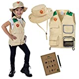 Born Toys Explorer and Safari Costume Vest and Hat Set for Kid Explorer and Outdoor Dress up and Role Play-Great for Park Ranger Paleontologist Zoo Keeper Costume and Adventure Kids…
