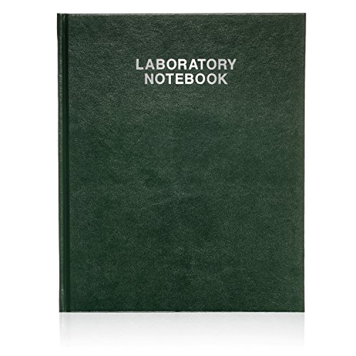 Scientific Notebook Company, Laboratory Notebook, 96 Pages 3001HC Green Hard Cover