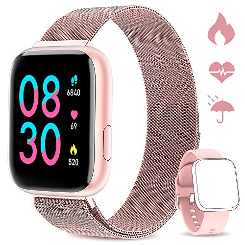 🌈【Innamorare di WWDOLL Smartwatch】: 2020 nuovo WWDOLL Smartwatch è una combinazione perfetta del design con l'alta qualità: lo schermo TFT da 1,4 pollici a colori e 164 interfacce regolabili, fa si che si abbia un'eccellente qualità dell'immagine....