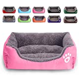 MONIKI Dog Bed, Super Soft Pet Sofa Cats Bed, Non Slip Bottom Pet Lounger,Self Warming and Breathable Pet Bed Premium Bedding (XL: 31