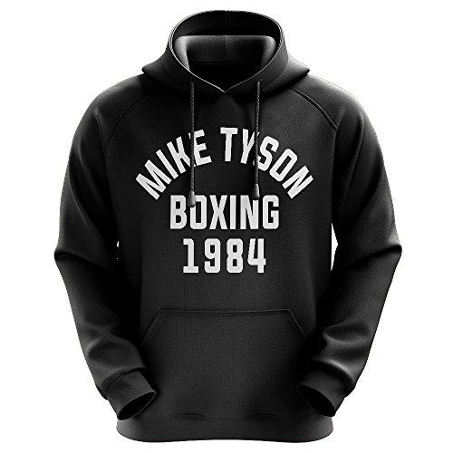 FABTEE - Mike Tyson Boxing 1984 - Männer Hoodie Größen S-3XL, Größe:L, Farbe:Schwarz