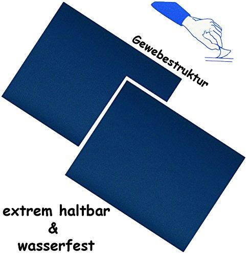 alles-meine.de GmbH 6 Stück _ Selbstklebende Reparatur Sticker - festes & stabiles - Camping Nylon -  kräftiges blau  - wasserfest & wasserdicht - Aufkleber / Kleber - Flicken ..