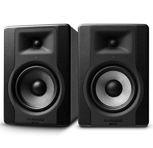 """M-Audio BX5 D3 Par- Monitor profesional de estudio bidireccional de 100 W con woofer de 5"""" para producción musical y mezcla, función Acoustic Space Control incorporado"""