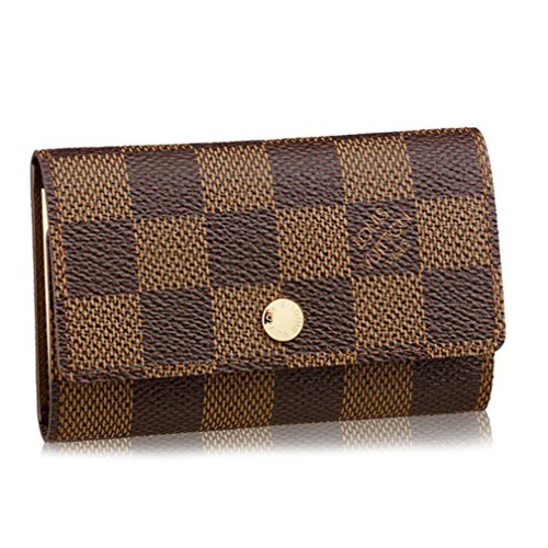 Louis Vuitton Damier Canvas 6 Key Holder Case Key Ring Brown N62630 Made in France