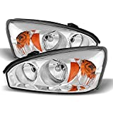 ACANII - For 2004-2008 Chevy Malibu SS Replacement Headlights Headlamps Pair 04-08 Replacement Driver + Passenger Side