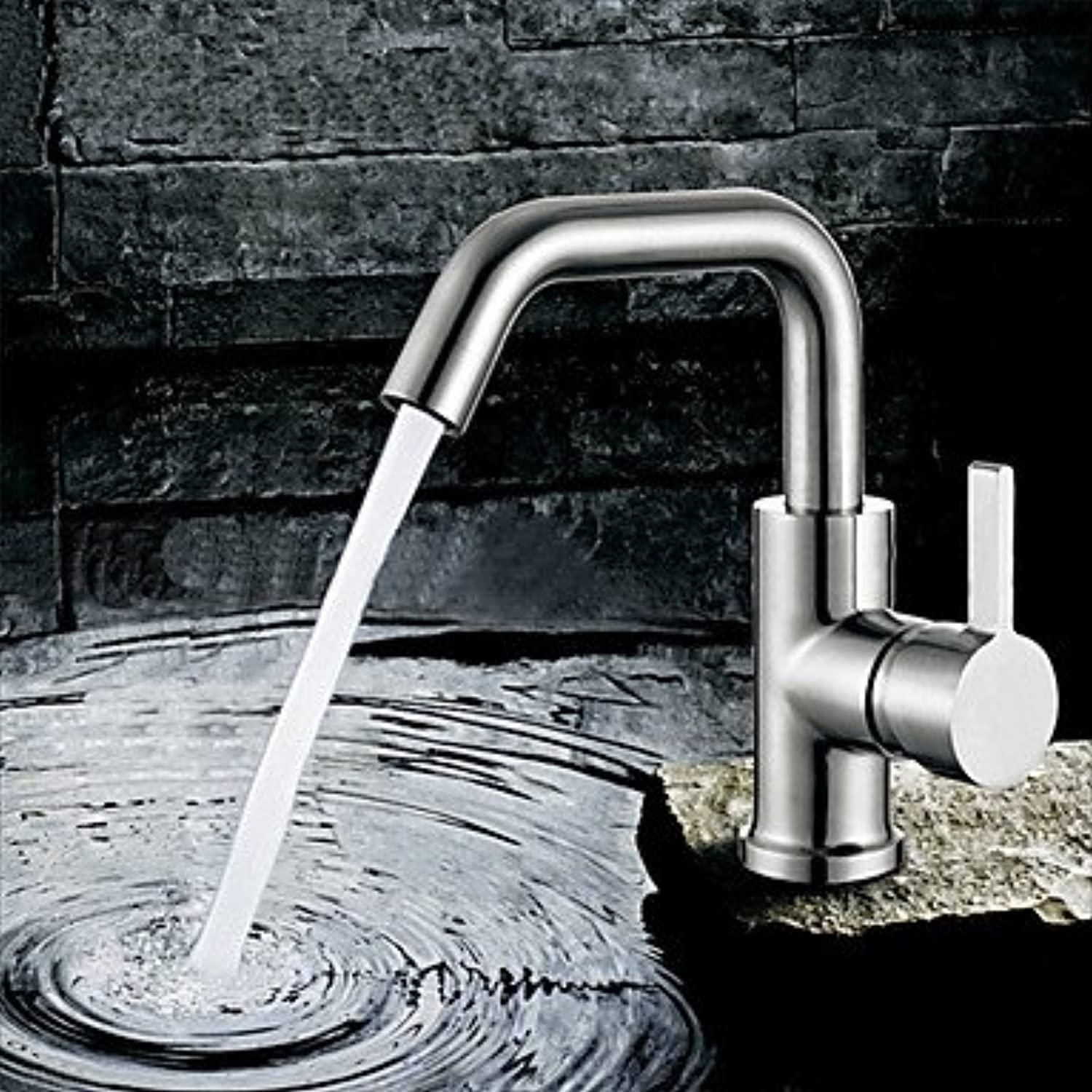 HMer Contemporary Unique Centerset redatable Stainless Steel Sink tap