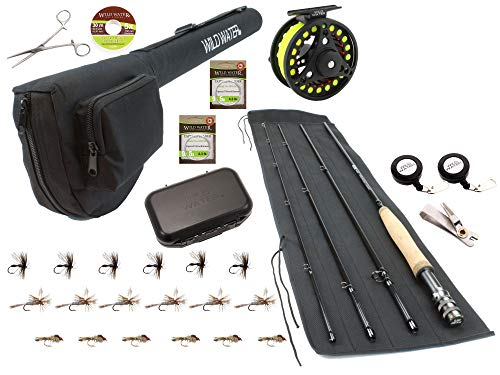 Wild Water Fly Fishing Rod and Reel Combo Starter Package