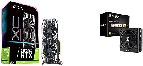 EVGA GeForce RTX 2070 XC ULTRA GAMING, 8GB GDDR6, Dual HDB Fans & RGB LED Graphics Card with 650 G1+,80 Plus Gold 650W,Fully Modular, FDB Fan,10 Year Warranty,Power ON Self Tester,Power Supply