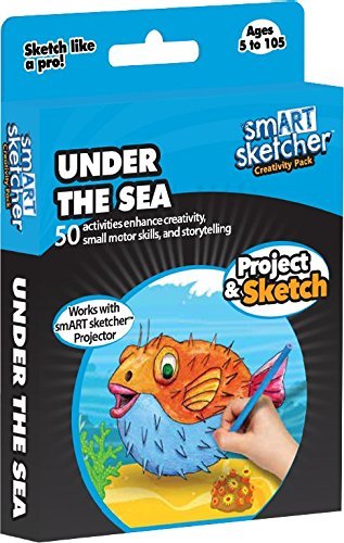 Smart Sketcher – Set Creativo, Smart Sketcher SD Pack Under The Sea USA English Box, Multicolor