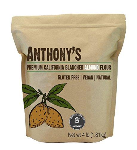 Anthony's Blanched Gluten Free Almond Flour, 4 lb, Gluten Free & Non GMO, Keto Friendly