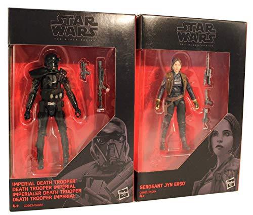 Star-Wars - The Black Series 2er Pack 9,5 cm Actionfiguren zum Film, für Jungen, Mädchen und Fans (Jyn Erso und Death Trooper)