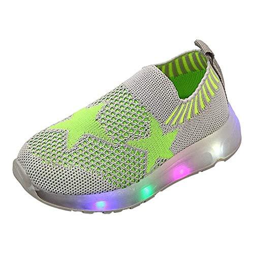 Unisex Baby Jongens Meisjes Pentagram Sokken Bright Schoenen Voor Kinderen Bright Webgewebe Casual Schoenen Baby Schoenen Outdoor Light Sneakers Voor Outdoor Schoenen,Green,22