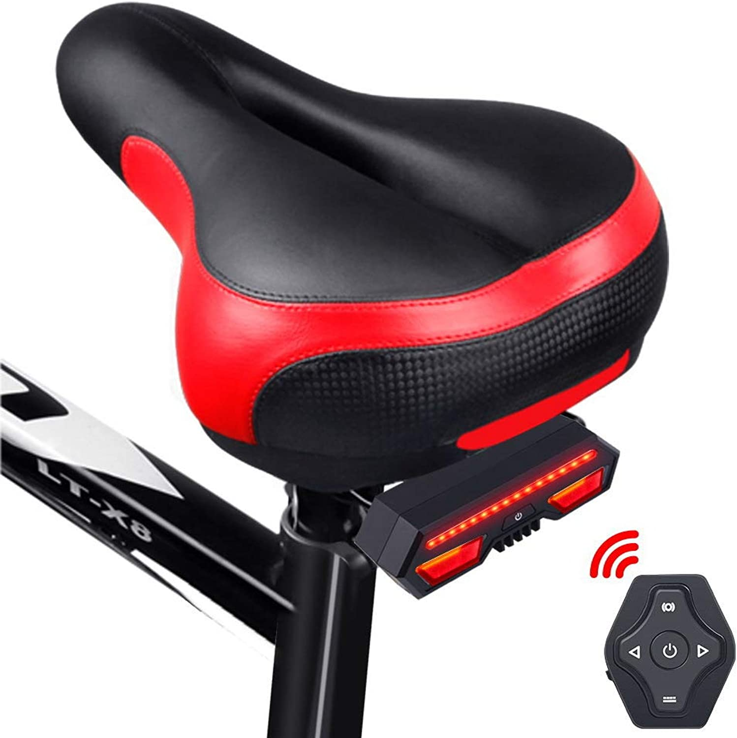 Bike Tail Light, USB Rechargeable, Auto On Off, Brake Sensing, IPX4 Waterproof, Fits to Any Road Bikes