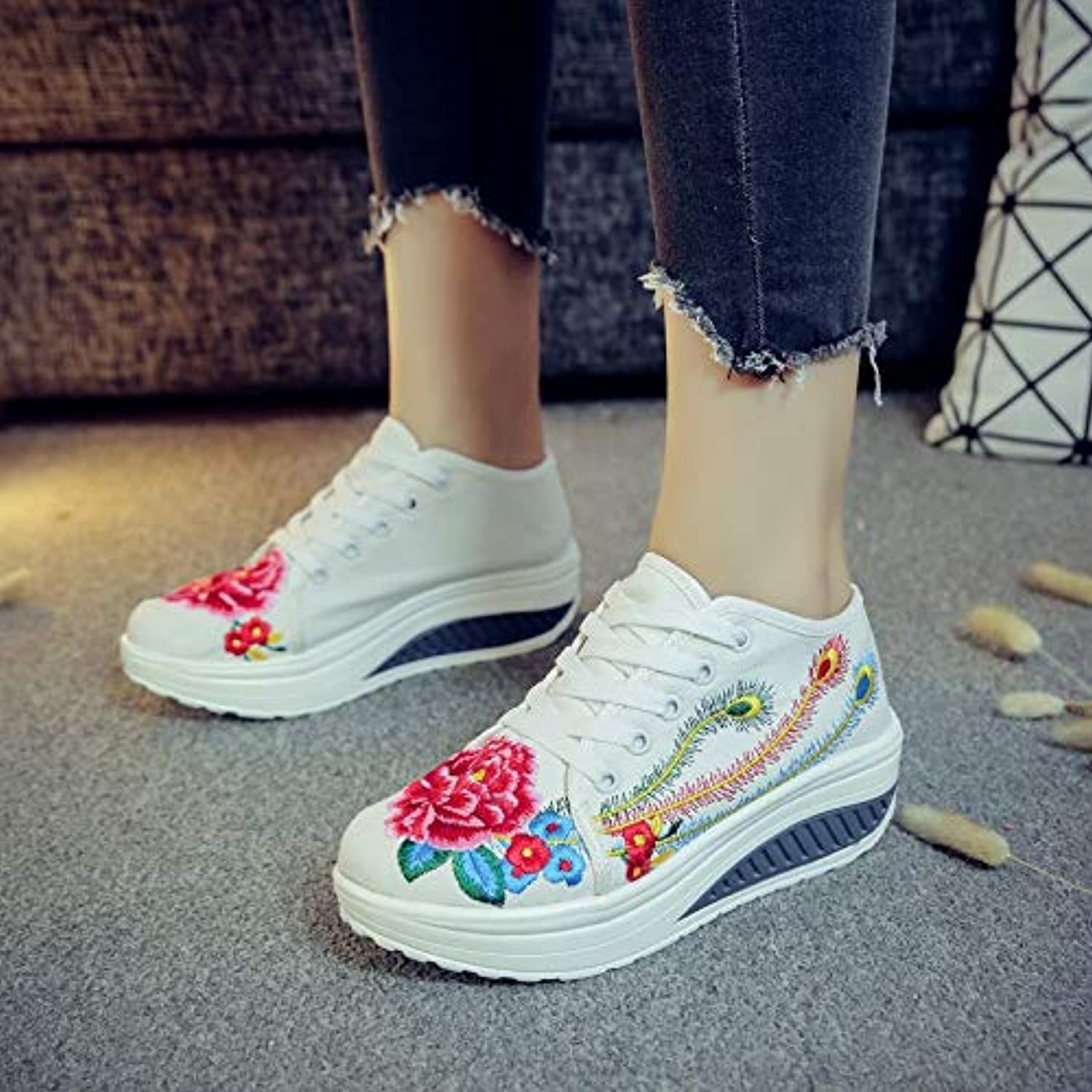 Meiren Embroidered Ethnic Style Thick Sole shoes