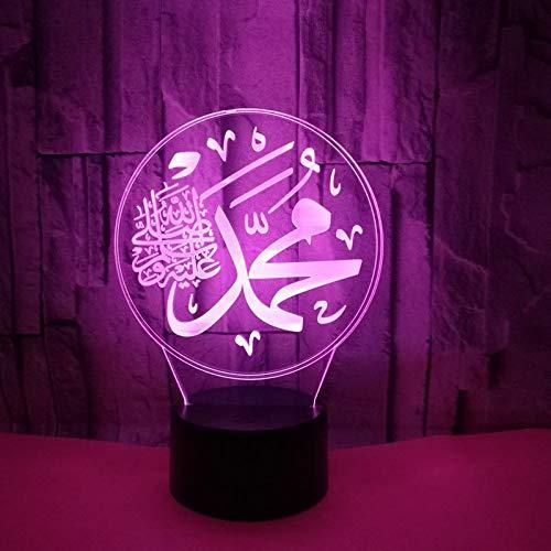 Led-nachtlampje met 7 kleuren wisselend nachtlampje met Anime-logo, voor kinderen, kinderkamer, hal, kleuterschool of partycadeau.