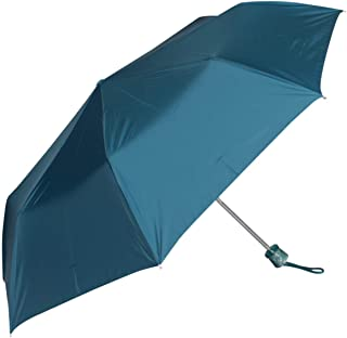John's Umbrella Polyester Umbrella (Sea Green_3 Fold Moon Silver)