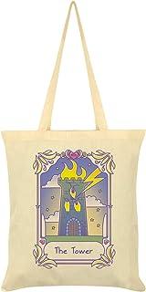 Deadly Tarot Kawaii The Tower Tote Bag Cream 38x42cm