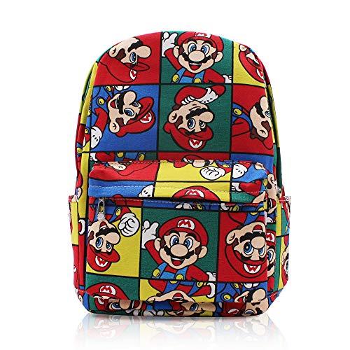 Finex Canvas Casual Daypack mit 15 Zoll Laptop Staufach für Reisen, Multi (Super Mario Bros) (mehrfarbig) - 364K