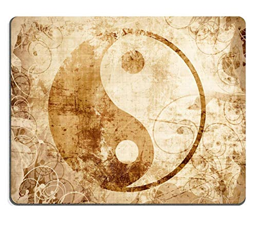Mausepad Natural Yin Yang Sign With Some Highlights And Reflections Oblong Mousepad Premium Gaming Non-Slip Mouse Mat Mouse Pad Customized 25X30M Rubber With Stitched Edges For La