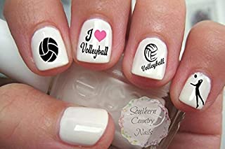 Sports Volleyball Nail Art Designs Decals