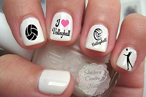 40 Sports Volleyball Nail Art Designs Decals