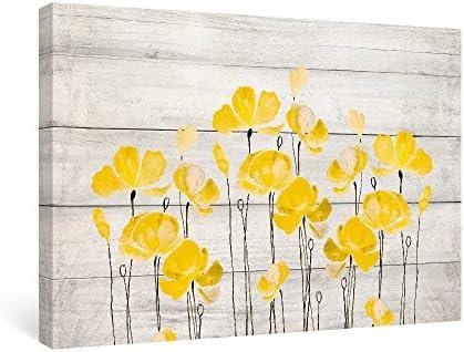 Yellow poppy wall art