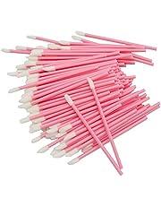 BAISDY 250Pcs Disposable Lip Brushes Wands Lipstick Applicators for Makeup, Pink