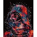 HCYEFG Puzzle 500 Piezas Adultos, Darth Vader, Personalizado De Madera Montaje Rompecabezas Divertido, Decoración del hogar, 52X38Cm