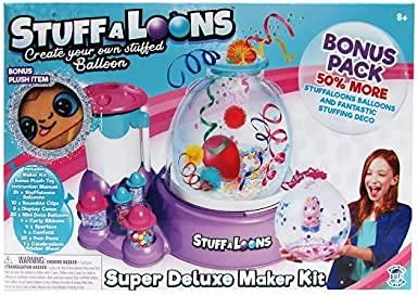 Stuffaloons - Super Deluxe Maker Kit - Create Your Own Stuffed Balloon - Bonus Pack - (50%) More Balloons and Fantastic Stuffing Deco - Bonus Plush