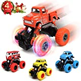 WisToyz Monster Trucks for Boys Pull Back Cars (4 Pack), Toys Cars Toys Trucks for 2-7 Years Old...