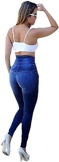 Womens Denim Design Colombian High Waist Butt Lifting Skinny Fit Jeans