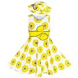 Vestido para niña 2 Piezas Sombrero Amarillo Flor Fiesta Fiesta 11-12 años