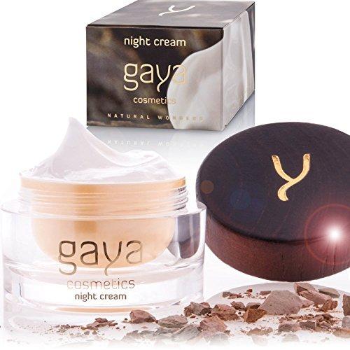 Gaya Cosmetics Anti Aging Nachtcreme – Vegane Feuchtigkeitscreme für Nährende & Straffende Pflege & ein natürlich strahlendes Gesicht