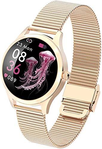TYX-SS Reloj Inteligente Mujer Reloj de Moda Ritmo cardíaco Monitoreo del sueño IP68 Reloj Inteligente Impermeable para Mujer-Malla Rosegold