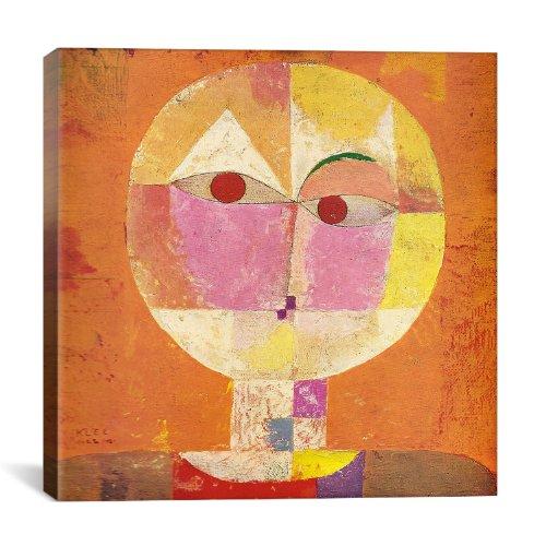iCanvasART Senecio von Paul Klee Kunstdruck auf Leinwand, 66 x 66 cm