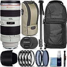 Canon EF 2.756-7.874in f/2.8L USM Lens + Sling Backpack + Monopod + 3 Piece Pro Filter Kit + 4 Piece Close-Up Lens Set + Lens Pen + Lens Cleaning Kit Pro Travel Bundle