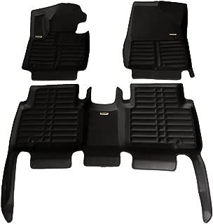TuxMat Custom Car Floor Mats for Hyundai Santa Fe XL 2013-2019 Models- Laser Measured, Largest Coverage, Waterproof, All Weather.The BestHyundai Santa Fe XL Accessory. (Black)