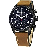 Alpina Herren Chronograph Quarz Uhr mit Leder Armband AL-372N4FBS6
