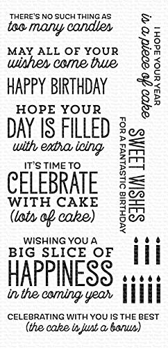 My Favorite Things MFT Clear Stamps Bday, Big Birthday Sentiments