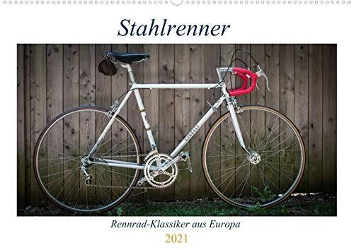 Stahlrenner - Rennrad-Klassiker aus Europa (Wandkalender 2021 DIN A2 quer): Faszinierende Rennräder mit Stahlrahmen aus vier Jahrzehnten (Monatskalender, 14 Seiten ) (CALVENDO Sport)