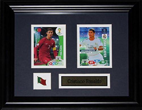 Midway Memorabilia Cristiano Ronaldo Team Portugal Real Madrid Soccer Football FIFA 2 Card Frame product image