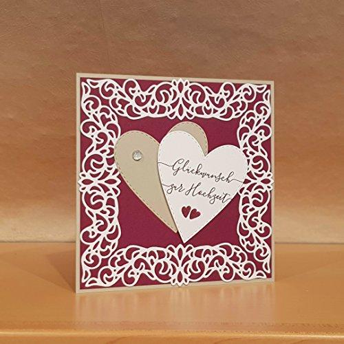 Hochzeitskarte, Glückwunschkarte, Karte Hochzeit, Handarbeit