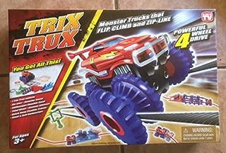 TRIX TRUX Monster Trucks That Flip, Climb And Zip - Line Powerful 4 Wheel Drive