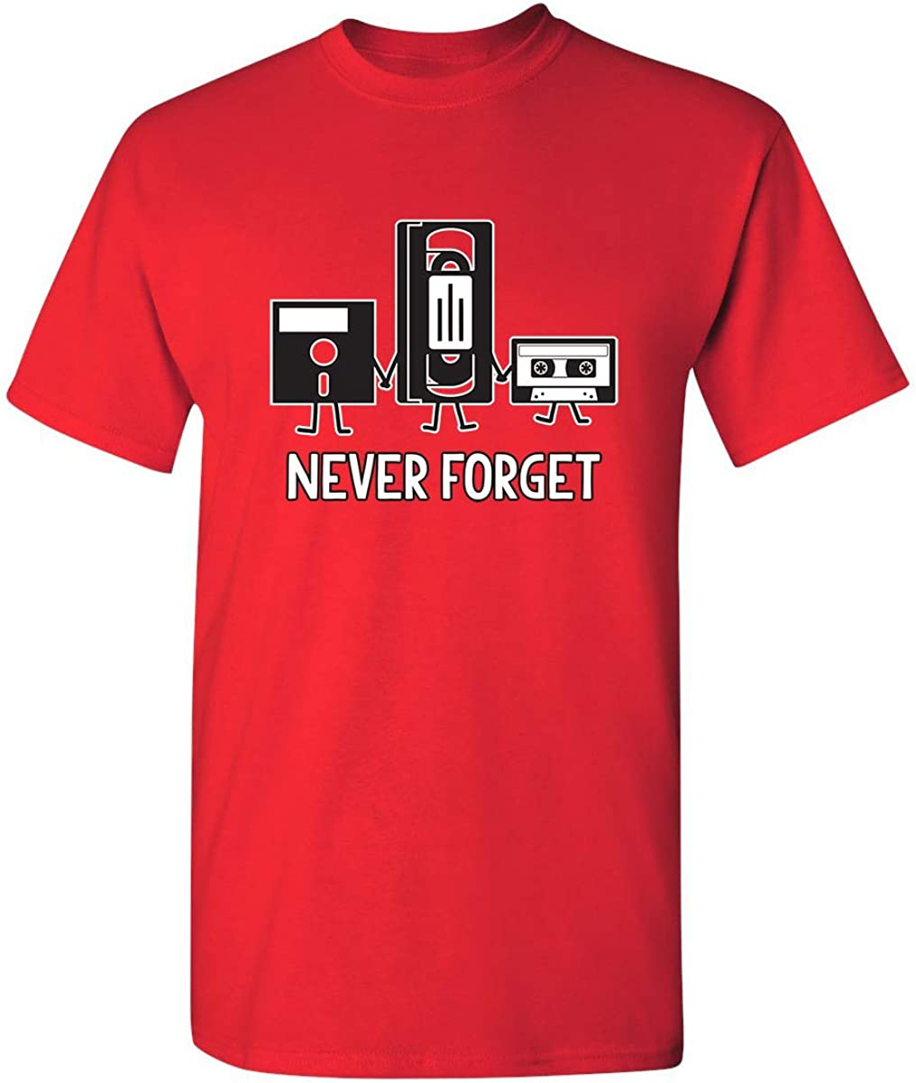 Never Forget Funny Retro Guys Gift Idea Music Mens Novelty Funny T Shirt