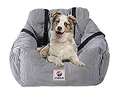 BLOBLO Dog Car Seat Pet Booster Seat Pet Travel Safety Car Seat Dog Bed for Car with Storage Pocket