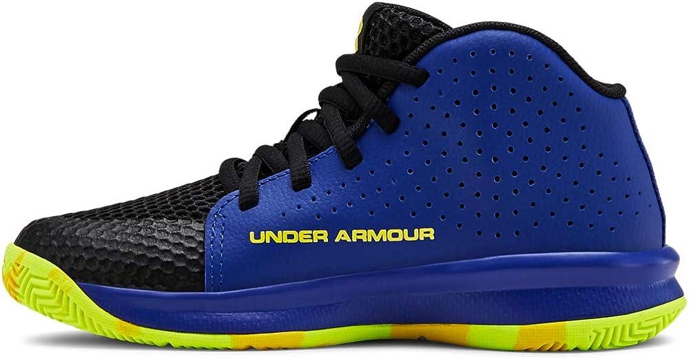 Under Armour Unisex-Youth Pre School 2019 Basketball Shoe, Royal (402)/Black, 3